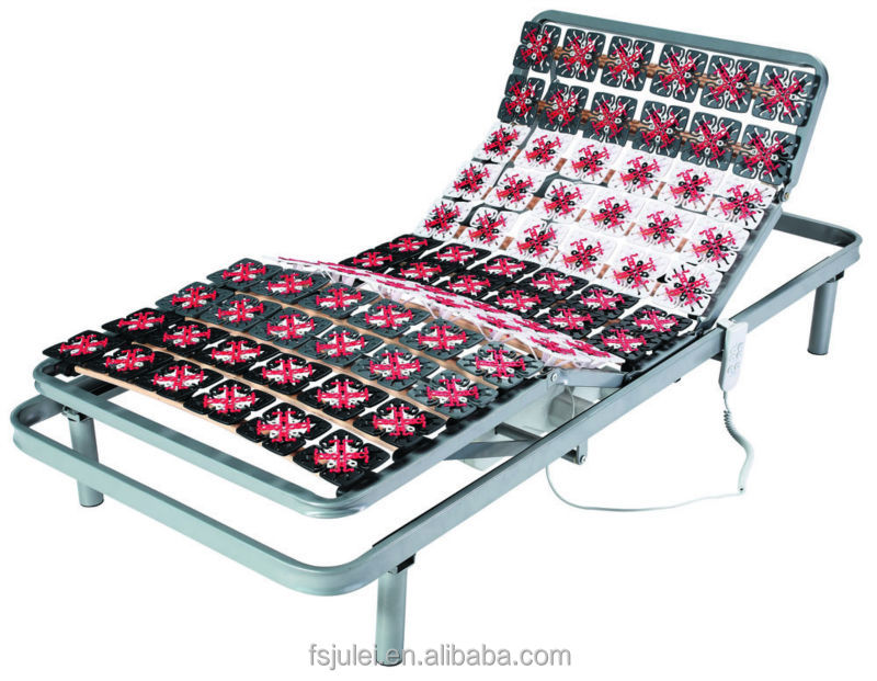 home furniture electric bed frame with plastic flowers