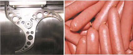 Taglio Macchina Per Fare Salsiccia Salsiccia Salsiccia Tagliatore