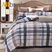 ALLBRIGHT classic plaid printing queen bedding sets or comforter set