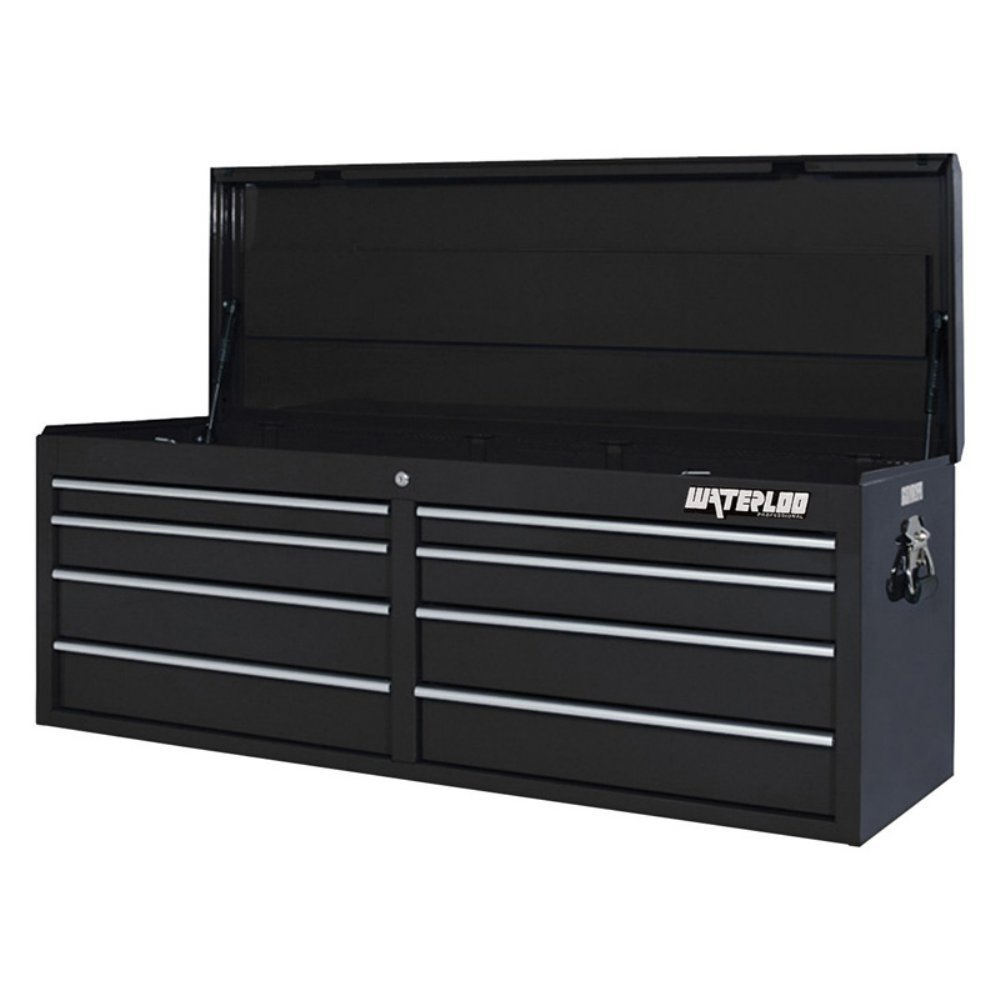 "Professional Series 51.13""W 8-Drawer Top Chest Color: Black"