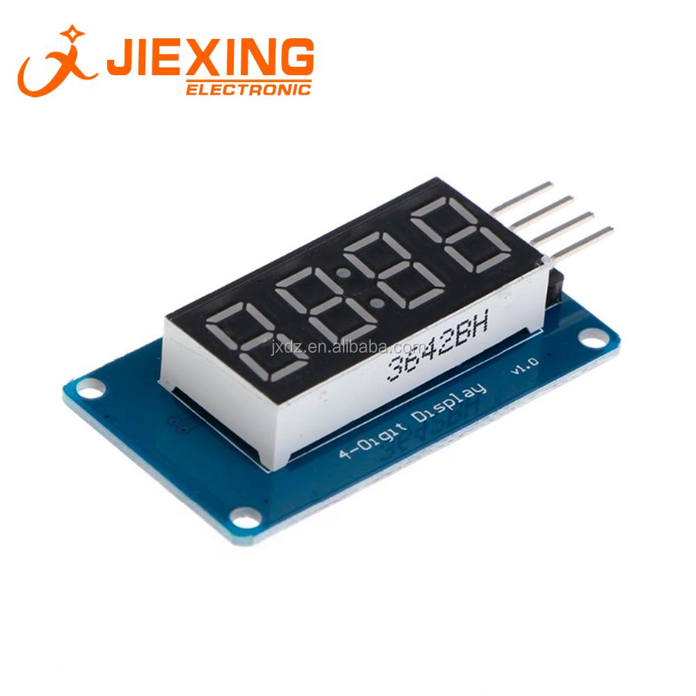 De 7 Segmentos Con 4 Dígitos Pantalla Led Módulo De Reloj Tm1637 Para Arduino Buy Módulo De Reloj De Pantalla De 4 Dígitos,Módulo De Visualización