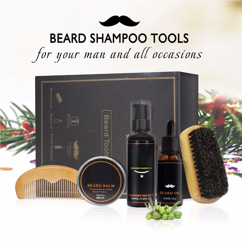 Men superior incorporated beard kit with beard oil Amazon hot selling beard grooming kit