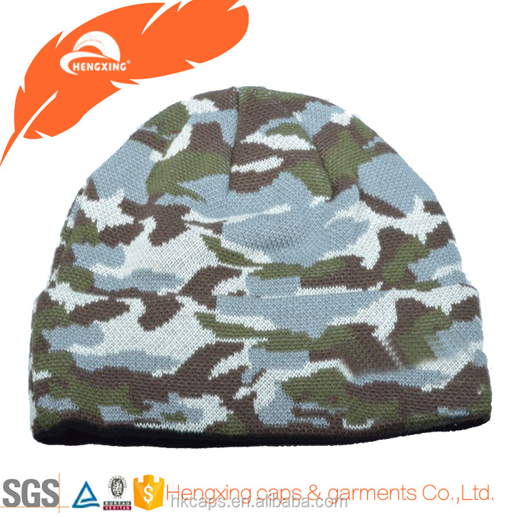 polyester beanie hats winter flat beanie
