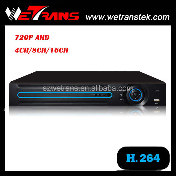 WETRANS AVR3404 P2P H.264 AHD/Analog/IP 3 in 1 Network 4 Channel 12V DVR Recorder