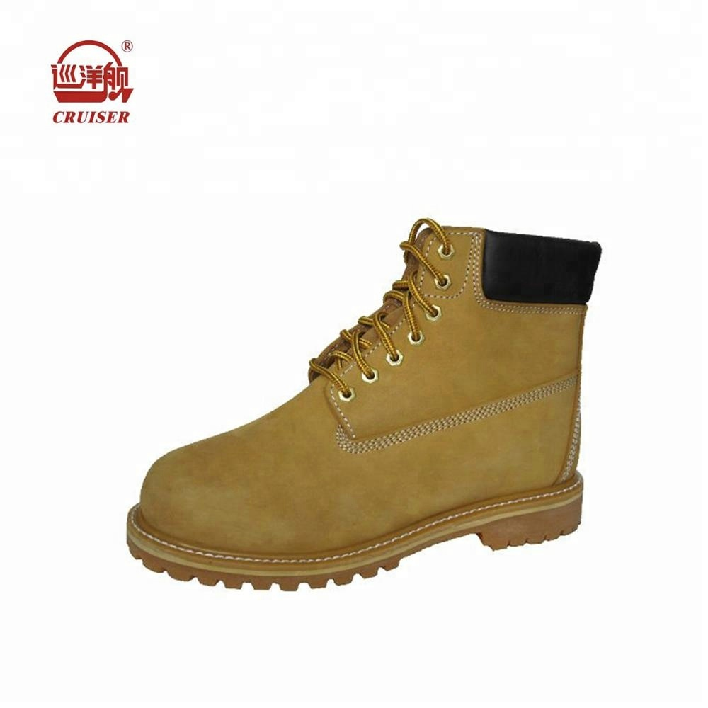 nubuck industrial genuine leather work shoes boots toe safety steel AHHq7d
