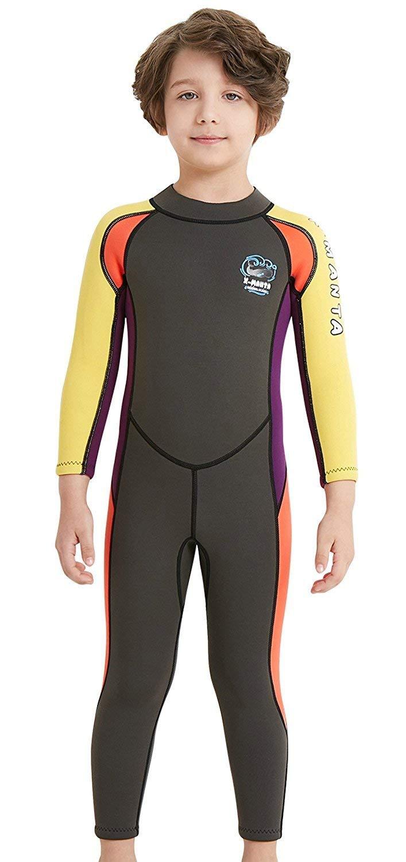 EveningSHOW DIVE & SAIL DIVE & SAIL Kid's Wetsuit 2.5mm Neoprene Keep Warm For DIVE & SAIL Kid's Wetsuit 2.5mm Neoprene Keep Warm For Diving Swimming Canoeing UV Protection