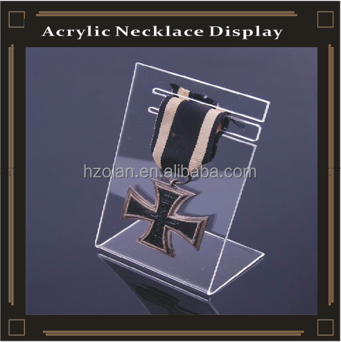 clear acrylic necklace band display stand holder/display rack