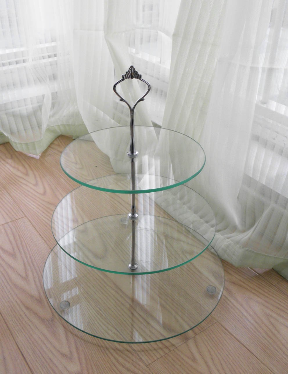 3 Tier Tempered Glass Cupcake Stand Buy Standcake Cake Standcupcake Display Product On