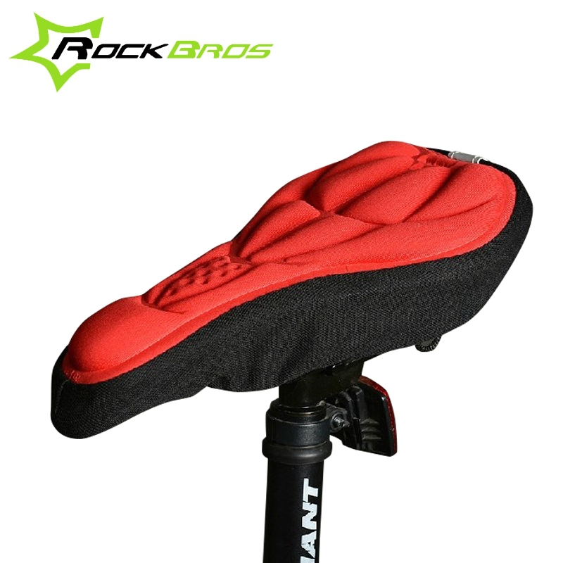 2017 RockBros 3D Silicone Lycra Nylon & Gel Bike Bicycle Cycling Cycle Seat Saddle Cover Ventilate Soft Cushion For Bike