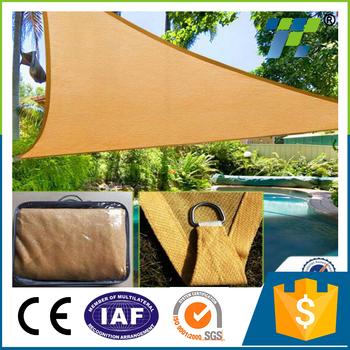 Triangle Outdoor Patio Sun Shade Sail Canopy Blue Square Outdoor Garden Sun  Shade Tarp