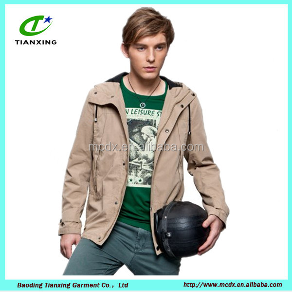 2016 new season khaki color hooded letterman jacket