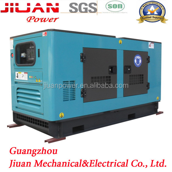 Guangzhou 40kva silent electric power generator set genset power silent 40 kva generator jiuan