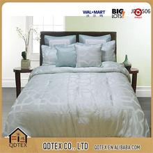 fashion design 7pcs light blue polyester jacquard comforter bedding sets