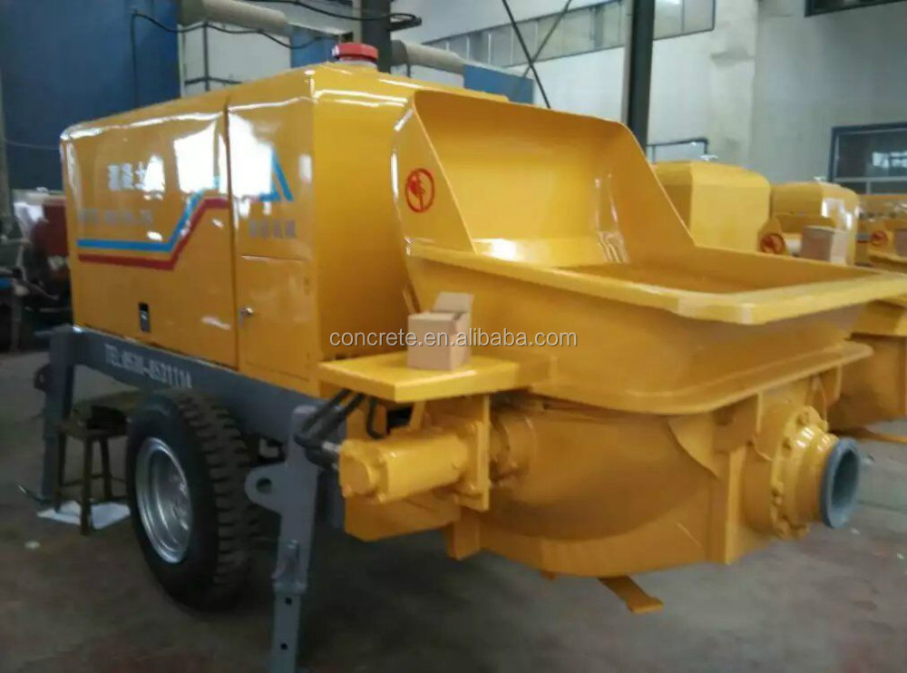 trailer pump for conveying concrete with advanced configuration and reasonable price building construction equipment