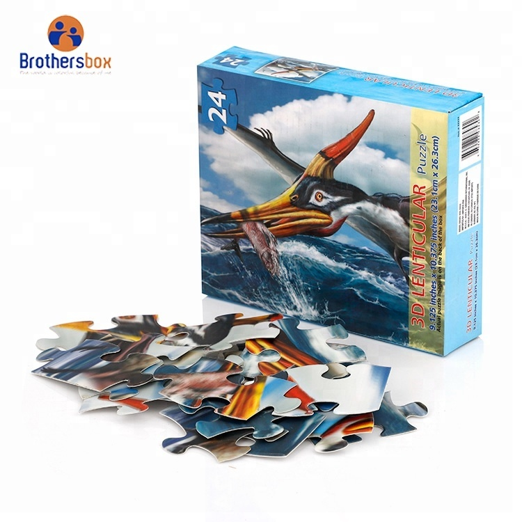 china supplier custom paper 24 150 1000 piece animal jigsaw puzzle toys 3d jigsaw puzzles
