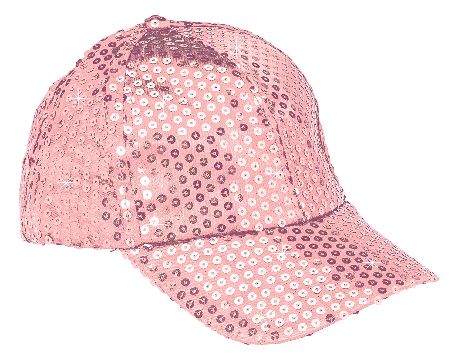 052ee2d7 Get Quotations · The Paragon Baseball Cap for Women - Pink Sequin Hat,  Adjustable Strap Ball Cap