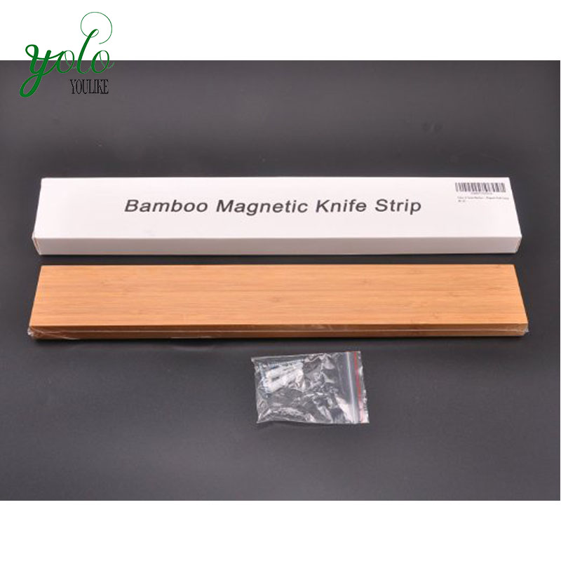 15 Inches Bamboo Magnetic Knife Strip Knife Holder