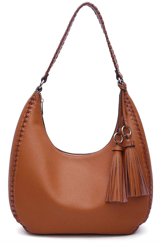 Bagblaze Bucket Style Hobo Shoulder Bag with Big Snap Hook Hardware