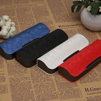 Hard Sunglasses Case Leather Spectacle Cases Glasses Cover Eye Contacts Lens Colored Women Men Myopia Mirror Box