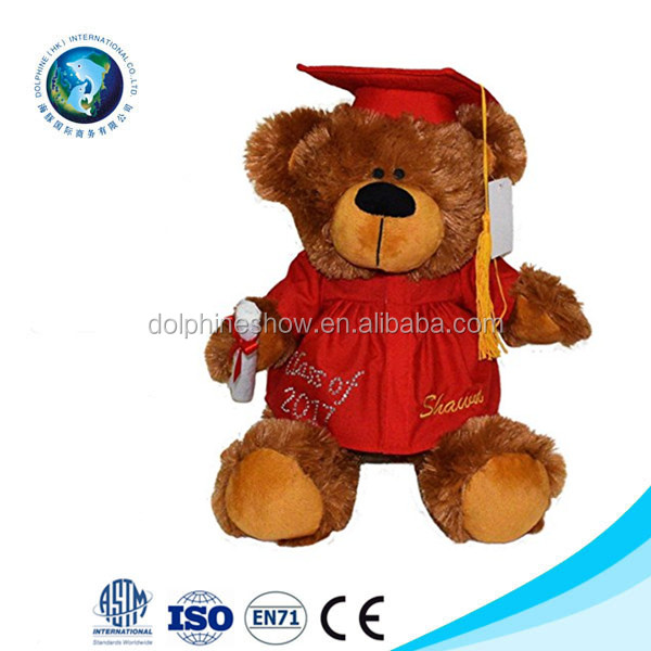 9879d6f89 2017 Personalized Cute Graduation Plush Teddy Bear With Cap Gown And  Diploma In Hand