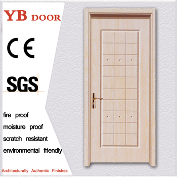 Eco Friendly School Elegant Carved High Quality Pvc Wood Front Door