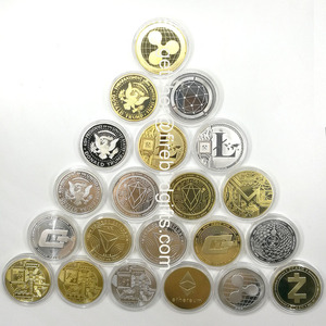 custom BTC Cryptocurrency gold silver metal coin