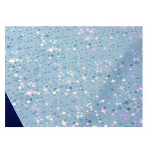 Shining Stars UV PVC Printing Transparent Holographic PVC Sheet for Making Holographic VIP Card