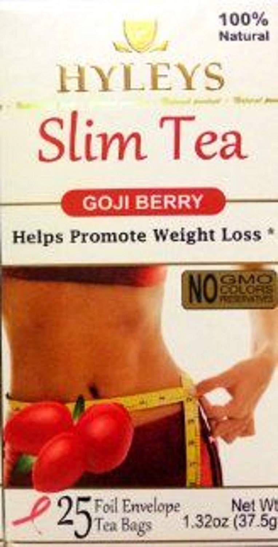 Hyleys Slim Tea Goji Berry 100% Natural, 25 Tea Bags (Pack of 2) by Hyleys [Foods]