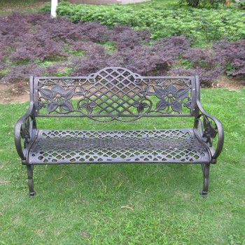 Heavy Duty All Weather Rust Free Cast Iron Outdoor Garden Bench
