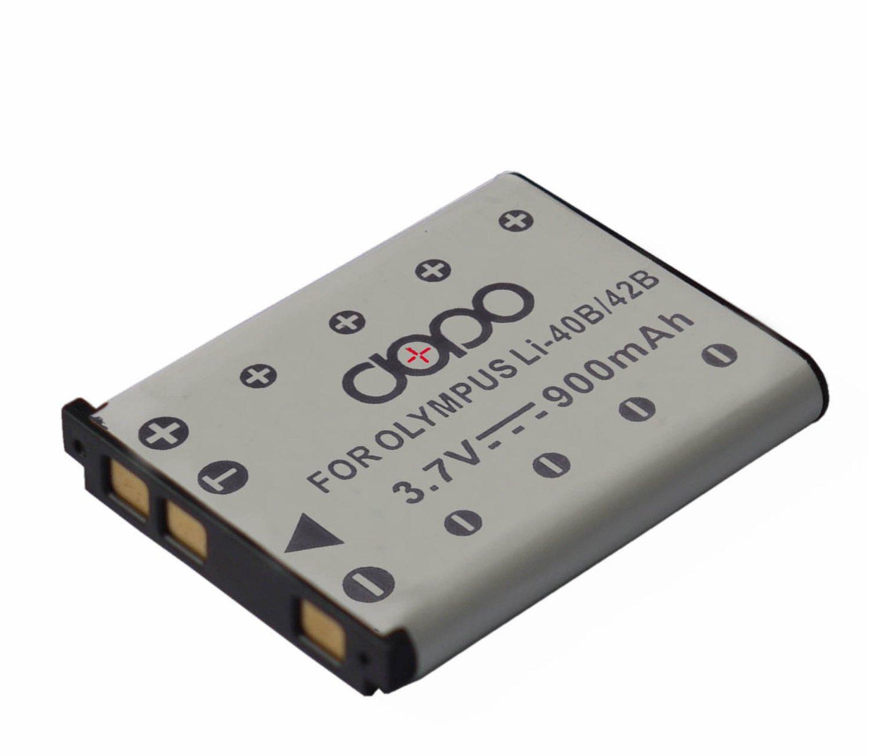 Dopo LI40B/42B Rechargeable Replacement Li-Ion Battery for Olympus Li-40B, Li-42B, Kodak KLIC7006, FUJI NP45, Nikon EN-EL10, Pentax D-Li63 and Others