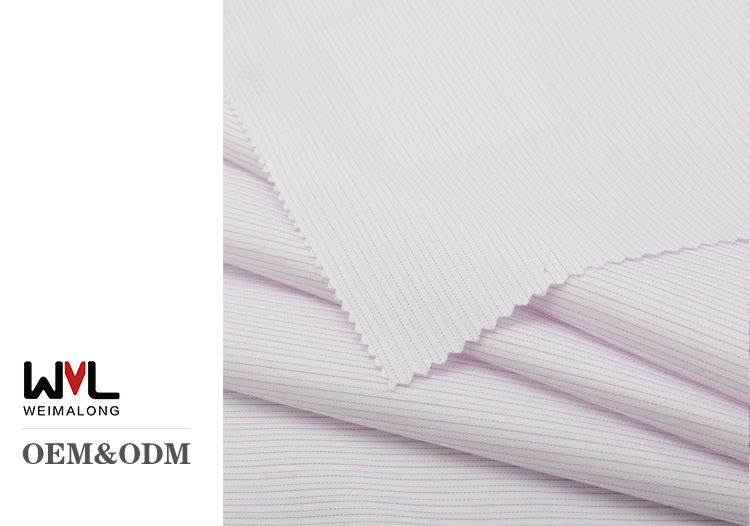 Hot selling High quality CVC twill weave fabric double twill yarn dyed shirting fabric for business shirt