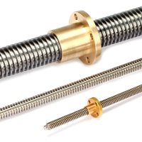 tr16*4 brass nut and 16mm diameter trapezoidal lead screw with 4mm pitch