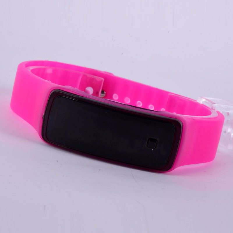 New Silicone Watchband Women Men LED Digital Screen Watch