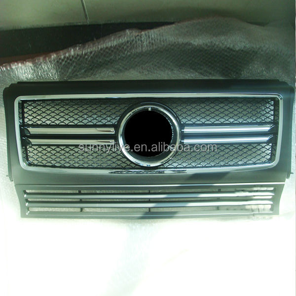 For Mercedes-Benz G-CLASS W463 Auto Parts G350 G400 G500 G55 Front Grille 1999-2013 Year V3
