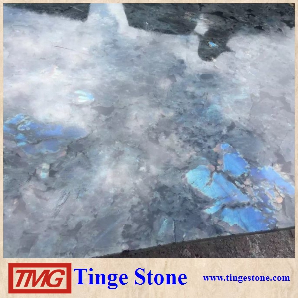 Labradorite blue granite slab with factory price