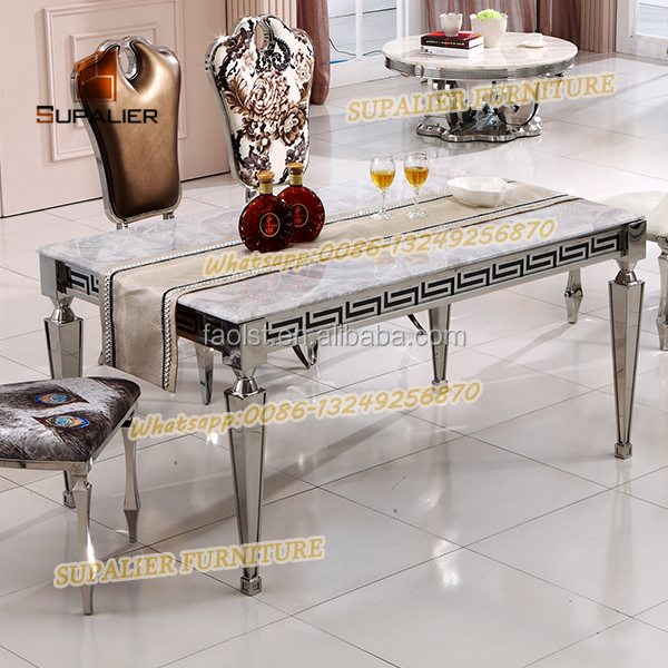 Marble Top And Metal Legs Dining Table Base For Marble Tables