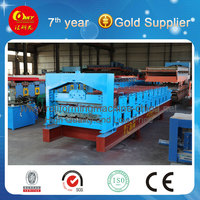 Metal roof sheet double layer roll forming machine in trade association