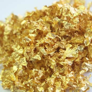 24 k commestibile scaglie d'oro panificio ingrediente commestibile stagnola di oro fiocchi