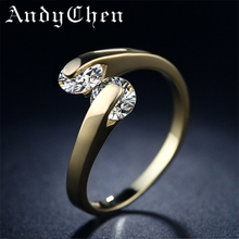 18KGP Gold Plated Rings For Women Fashion Engagement Zirconia Vintage Jewelry Wedding Bague Bijoux Accessories 18KAR010