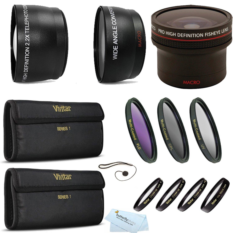 2x Telephoto Lenses DavisMAX Fibercloth Lens Bundle Wide Angle 3 Piece Filter Kit for Canon EOS 5D Mark II and Canon EOS 5D Mark III with Canon 17-40mm USM Lens 77mm Macro Close Up Kit