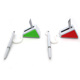 promotional cheap triangle bank counter stick table pen desk top stand advertising ball pen with company logo