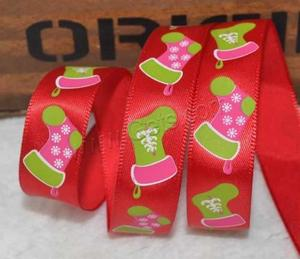 christmas satin ribbon for gift box