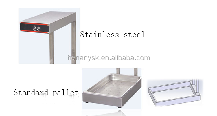 IS-DH-310 Stainless Factory Outlet Keep-Warming Table Fries Food Display Showcase Food Warm Station