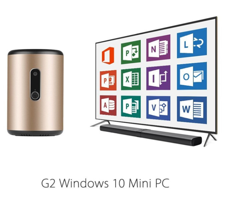 hot video mini pc G2 PRO Z8830 2G 32G win 10 hd video Intel HD Graphic GEN8 mini pc Support mic and webcam