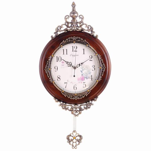 European Style High End Wooden Pendulum Wall Clocks Buy
