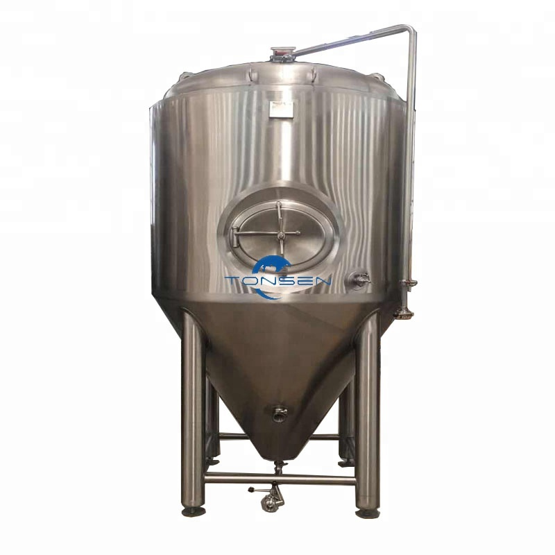 High precision mirror polishing double jacket beer fermenter