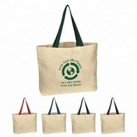 Custom printed colorful promotional natural cotton tote canvas cloth carry shopping bag