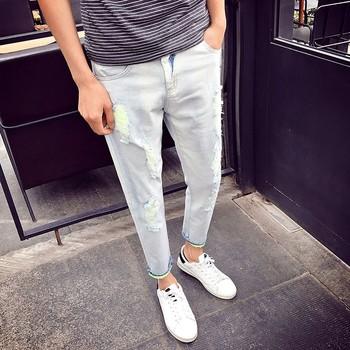 61735e56 European Style Denim Design Men Rock Revival Casual Wear Jeans Bulk  Wholesale