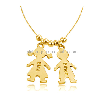 New fashion stainless steel baby girl boy custom made pendant new fashion stainless steel baby girl boy custom made pendant necklace aloadofball Images