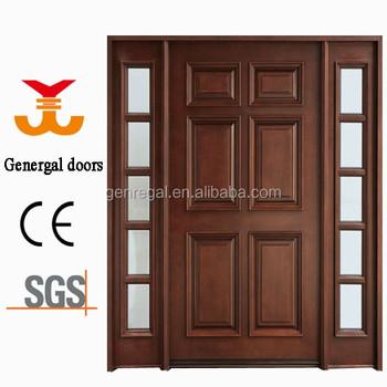 Ce Six Panel Luxury Solid Wooden Exterior Doors Buy Wooden